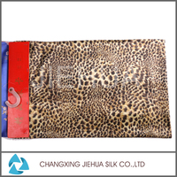 New products on china market leopard print cotton canvas fleece fabric