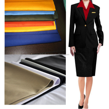China supplier solid dyed 100 polyester twill fabric for school teacher uniform