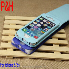 Hot products leather case for iphone 5. leather cheap mobile phone case