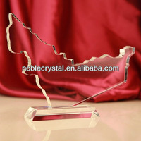 NOBLE Custom Made Crystal UAE Map Cutout Trophy Award