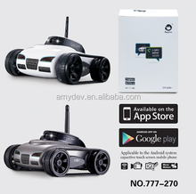 777-270 mini rc tank wifi remote control car with camera for iPhone iPad iPod Controller