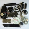 Black Silver 80cc Engine Motor Kit 2 Stroke Gasoline Engine Kit Set Single Cylinder for Motorized Bicycle Bike Motorcycle