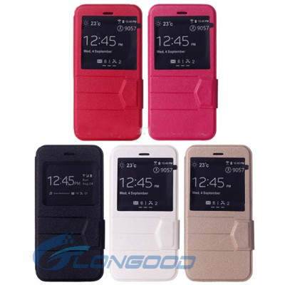 Multi-Color Flip Smart Leather Cover Case With Call Display ID For Iphone 6