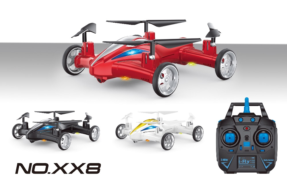 RC Flying Car 2-In-1 RC Car And Quadcopter Drone RC Quadcopter