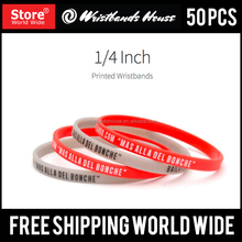 Thin Printed silicone bracelets | Thin silicone printed bands | Thin Customized printed silicone bracelet