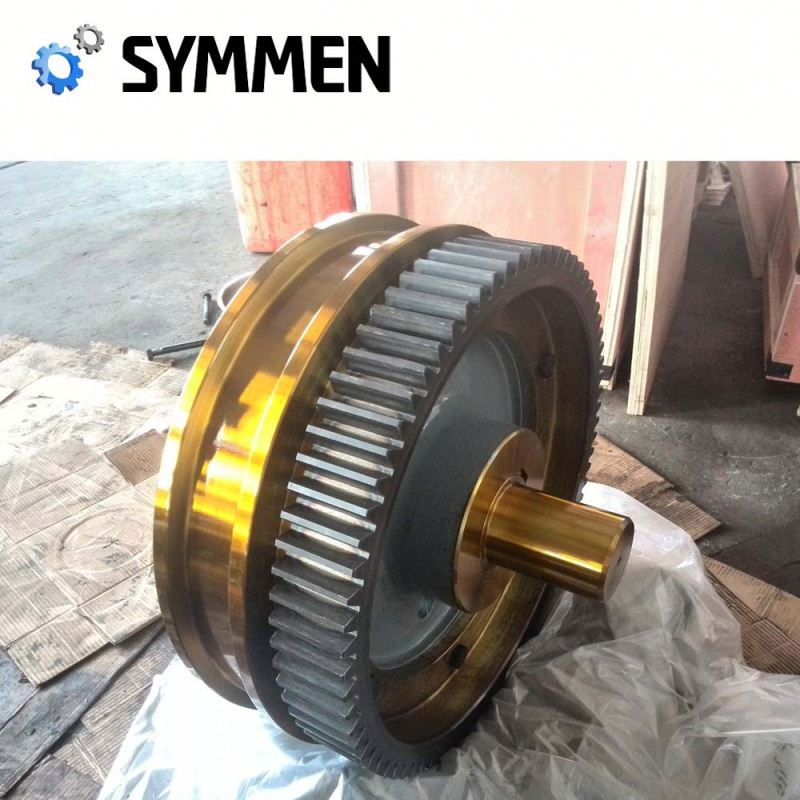 customized 5x120 die forged crane wheel used rail wheel