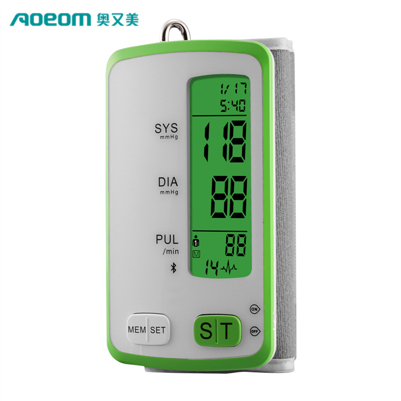 New design 2 in 1 wireless Bluetooth 4.0 Digital Blood Pressure Monitor with IOS Android APP
