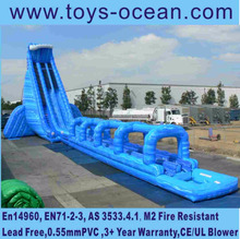 2016 hot sell highest large inflatable BLUE CRUSH water slide