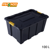 100l Heavy Duty Plastic Storage Tubs , Storage Containers Lid , Heavy Duty Plastic Tub