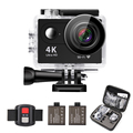 16MP WIFI 2.0 Inch Ultra HD 4K Underwater Waterproof Sports Action Camera Remote Control 2 Batteries Helmet Accessories Kit
