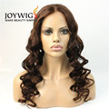 Factory new design 10A grade brown Color super wave Indian Human Hair full lace Wig
