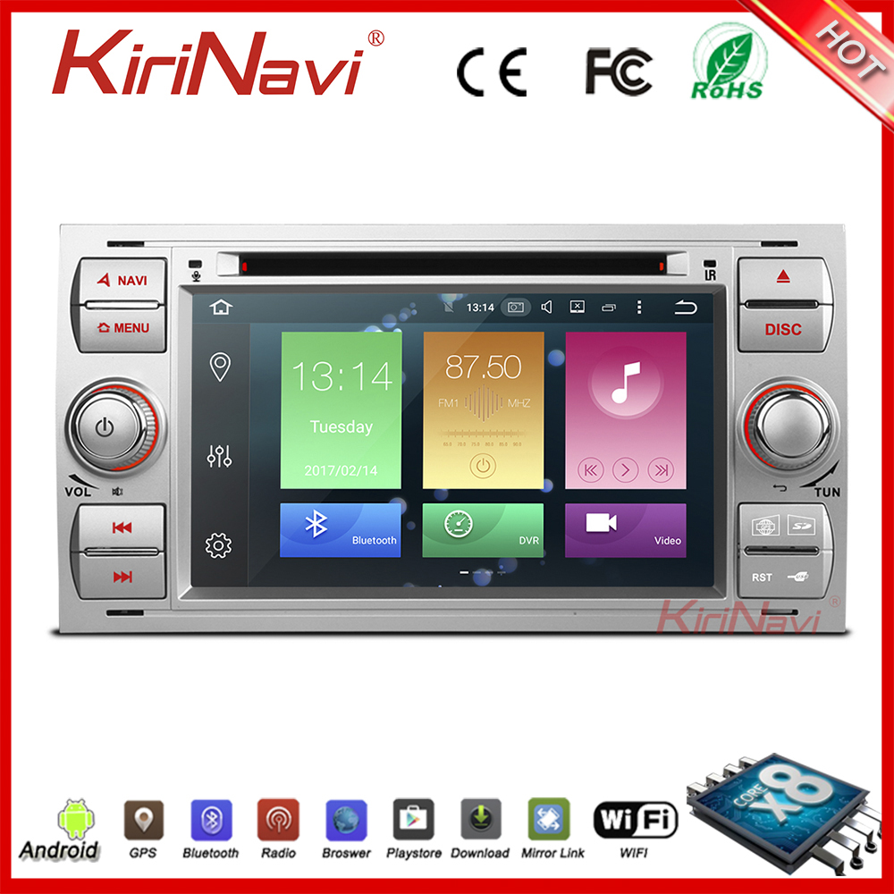 KiriNavi WC-FU7016 8 core andriod 6.0 stereo for ford for focus car radio with gps bluetooth 2005-2007 BT gps 3g TV