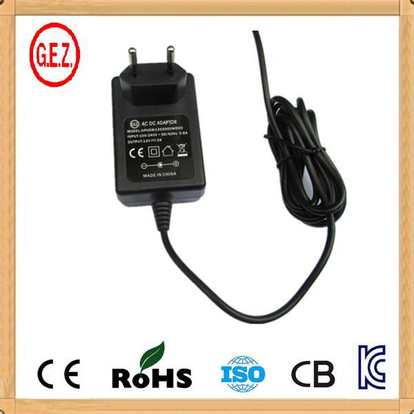 2 round pin to 3 pin adapter plug