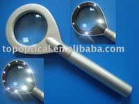 10 bright LED metal magnifier