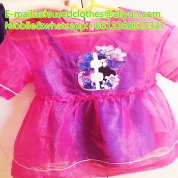 Girl sun protection clothing with mixed brand used in bale sale for africa