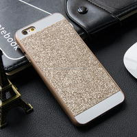 Bling luxury mobile phone back cover shiny glitter coated hard pc plastic phone case for iphone 4S/5S/6/6 Plus