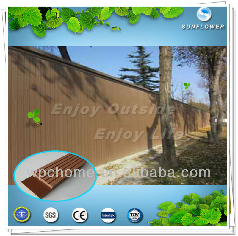 China wood plastic composite wall siding