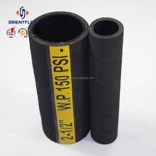 Custom wire helix non toxic water conveying fabric cover 203mm suction mud rubber hose distributor