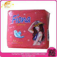 FIONA 10+5 pcs new packaged color best ladies sanitary pad for lady healthy