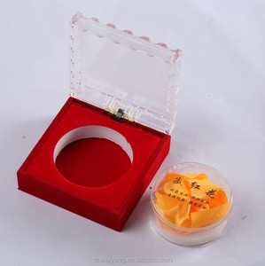 Square plastic gift boxes for herbs saffron candles jewerly