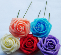 8 cm diameter wholesale decorative white artificial foam flower rose heads