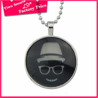 Cheap nice young girls black resin stone pendant necklace jewelry wholesale los angeles dropship