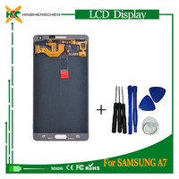 Low cost touch screen mobile phone lcd screen for samsung galaxy a7