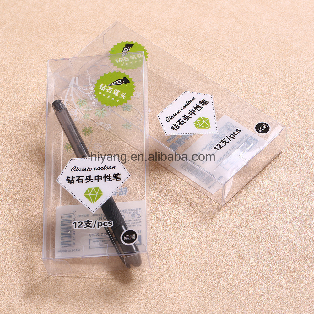 Guangzhou Factory Price Transparent Clear PP/PVC/PET Pen Packaging Box