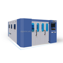 Cover-enclosed Automatic Exchange CNC Metal Fiber Laser Pipe Tube Cutting Machine Price From Fujian Qigo