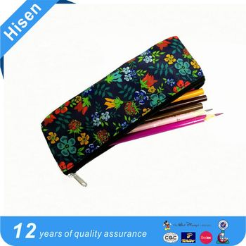 2016 fashion printed contracted zipper pen bag