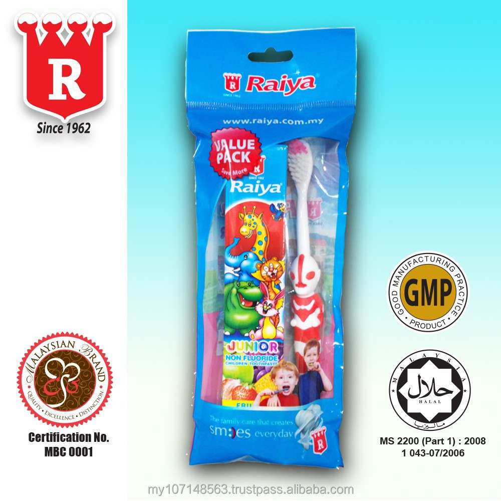 RAIYA Junior Toothpaste (Fruity Flavour) with Toothbrush 50g