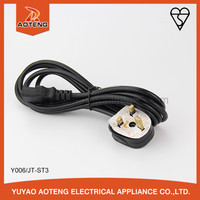 BS approved H05VVH2-F 2X0.75MM2X2M black or white electric plug power cord