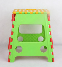 Plastic children foldable stool with color assorted