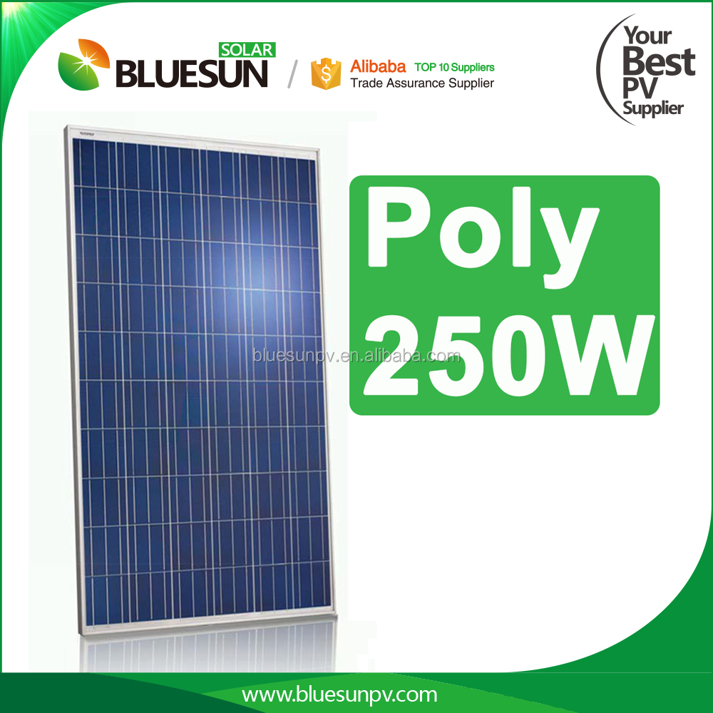 CHINA TOP 10 manufacture poly photovoltaic pv solar panel solar module 250w