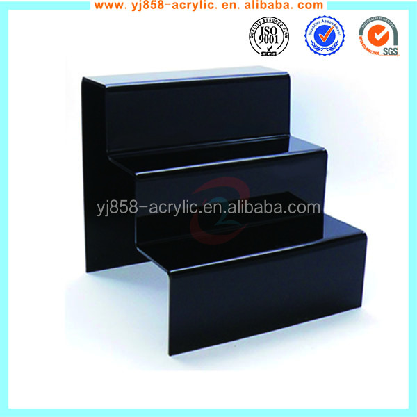 3 step acrylic retail display counter stand