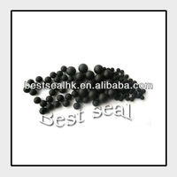 black soft rubber ball