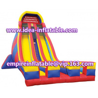 commercial use giant inflatable double line slide ID-SLL012