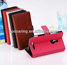 wholesale wallet leather case for Nokia Lumia 925, for Lumia 925 leather pouch