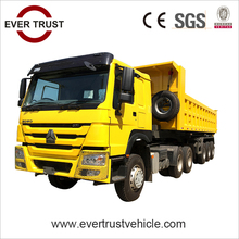 China low price high quality 3 axle 60 ton small dump trailer end dump trailer for sale