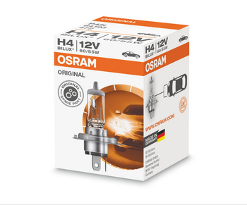 OSRAM ORIGINAL LINE | Halogen headlight lamps for cars H4 12V 60/55W P43t Germany