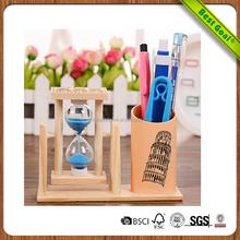 New designed Hourglass creative wooden pen holder