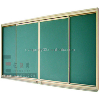 Moving School Furniture Wall Mounted Writing Chalk Green Board