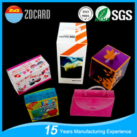 OEM waterproof clear plastic packing paper box with clear plastic cover