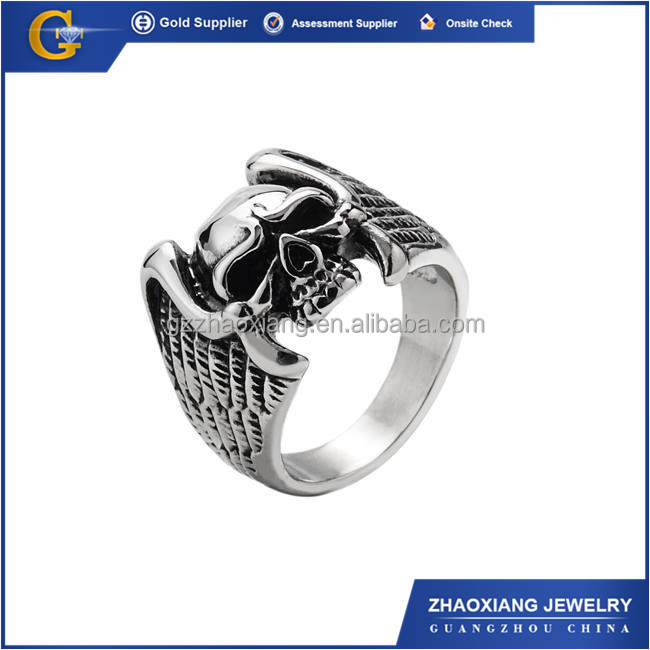 RR0261 turkish silver jewelry istanbul grand bazaar rings Stainless Steel Skull Ring For Women