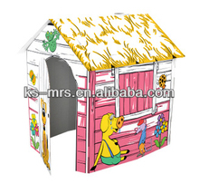 Piggie and rat DIY toy Paper doll House assembly house