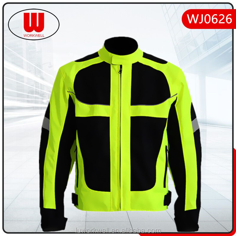 Two tones warning riding motorcycle jacket