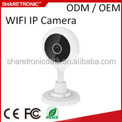 Factory directly selling Alarm 720P IR Wifi IPCamera Micro SD Card Record with Two Way Audio