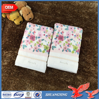 Cotton personalized India Pigment flower printing face towel