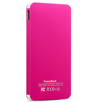 New products polymer battery 8000mAh Ultra-thin metal power bank for iphone wholesale