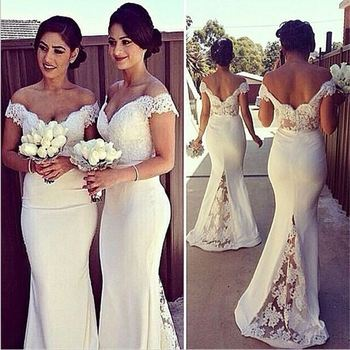 fashion clothes wholesale romantic evening dress backless gowns red formal gown newest fashion white lace pretty simple dress